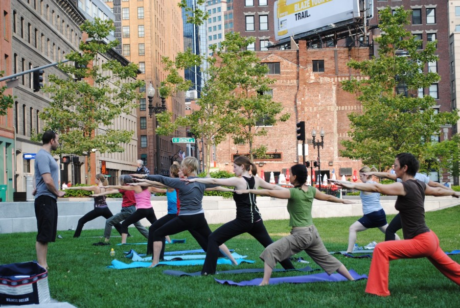 Free fitness class on The Greenway